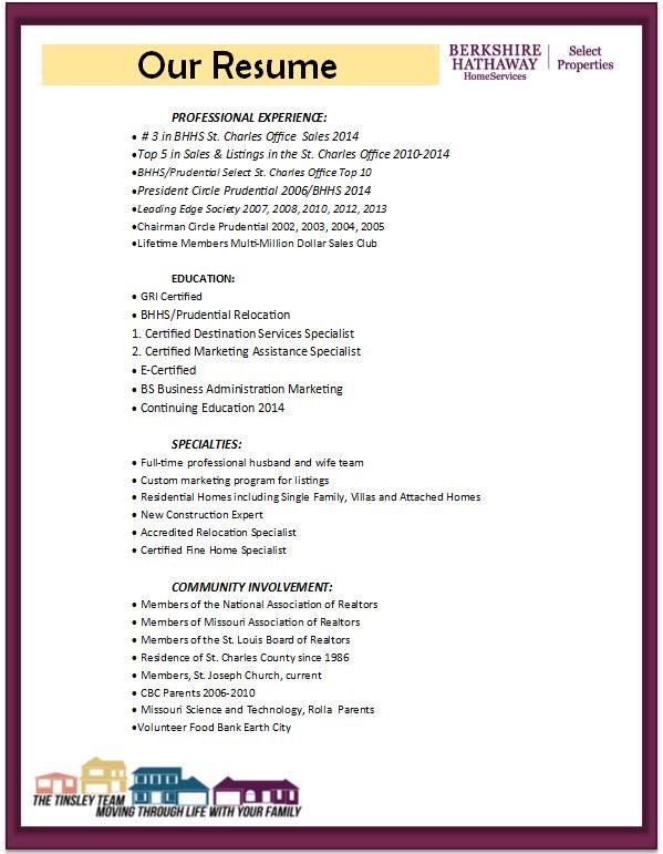 Realtor Resume | Resume Format Download Pdf